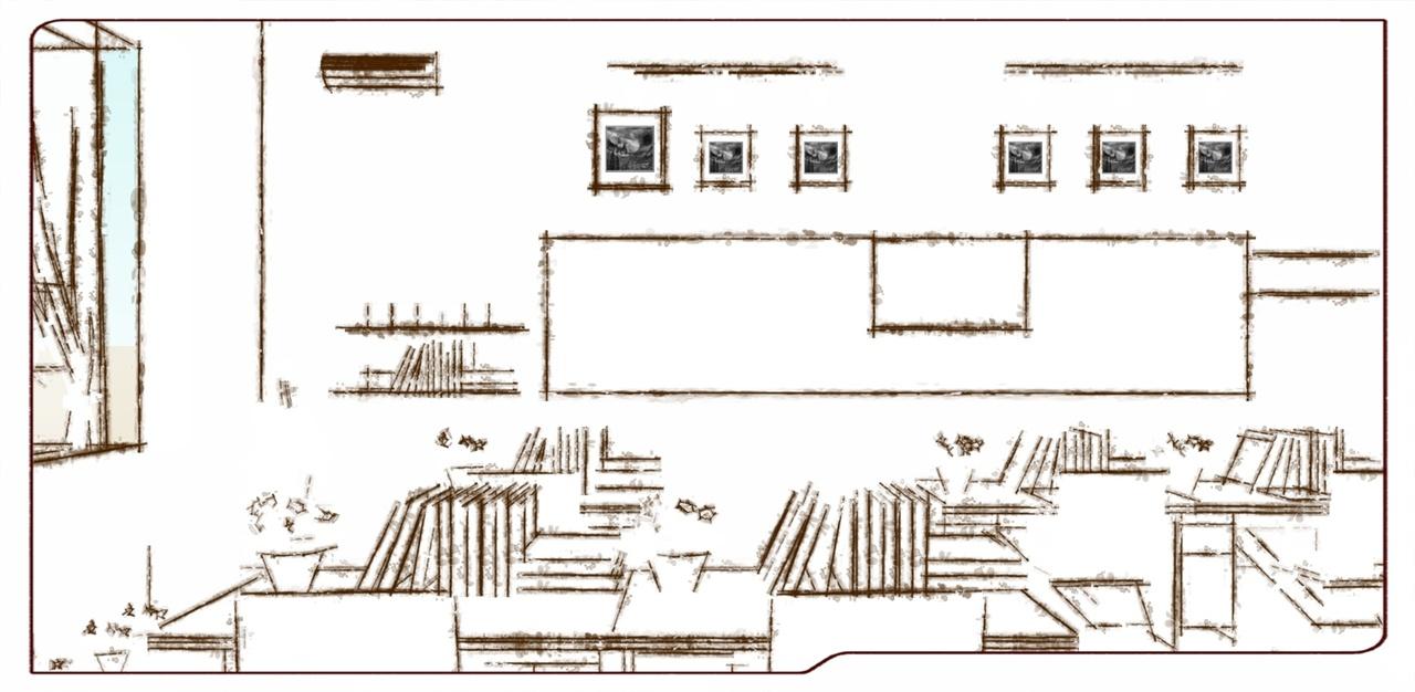 教室平面图简笔画