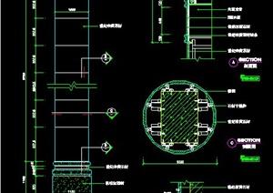 室内装饰立柱施工图