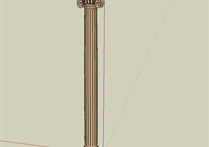 罗马柱设计SU(草图大师)模型
