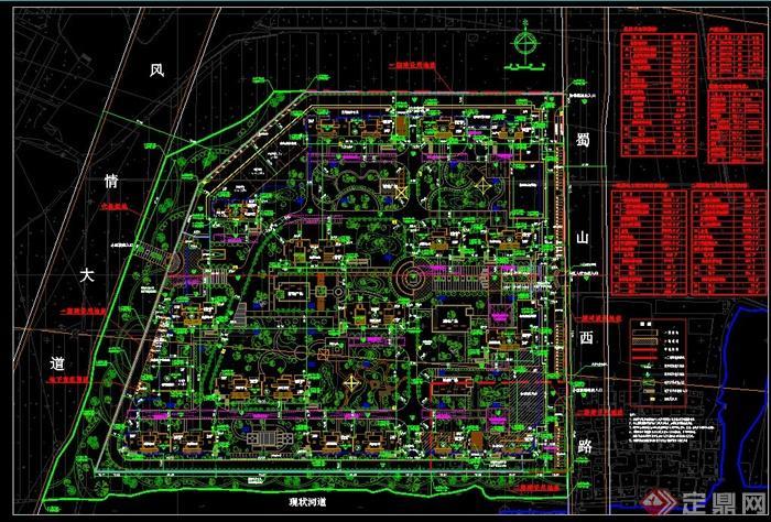 小区总体布置设计平面图[原创]