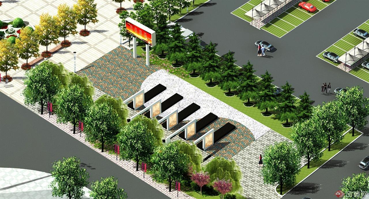 高鐵站前廣場的設計方案-景逸景觀工作室