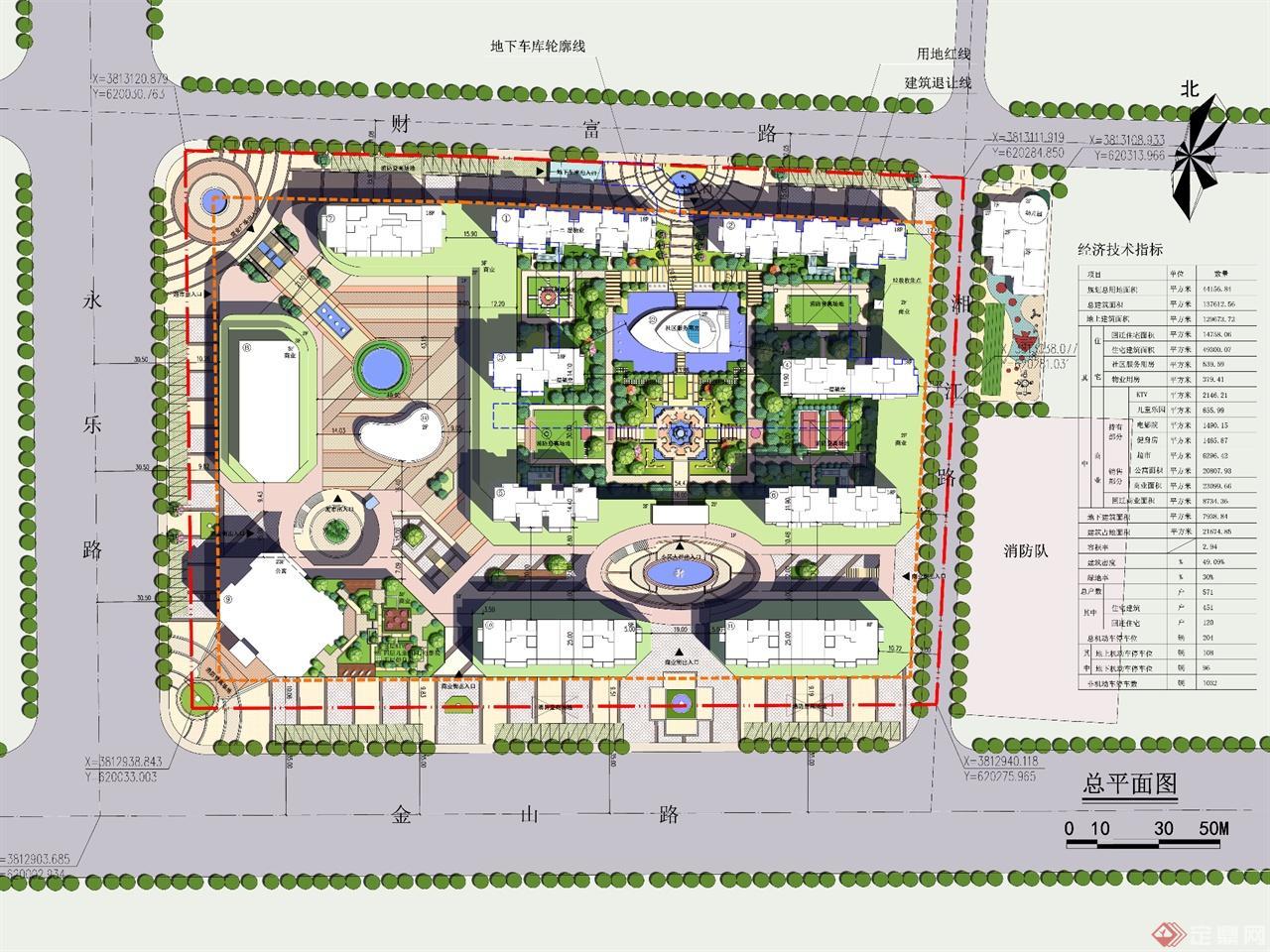 商丘文化广场平面图手绘