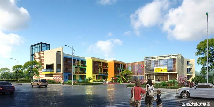 某现代幼儿园建筑设计jpg方案,方案包括设计说明、建筑总平面、各层平面、区位分析、功能分析等等,方案比较完整,具有一定参考价值。