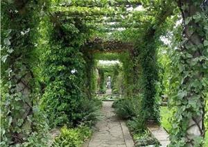 22张园林景观中的廊架设计JPG图片