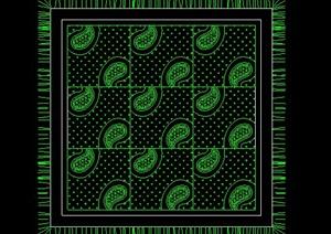 室内设计方形地毯cad平面图