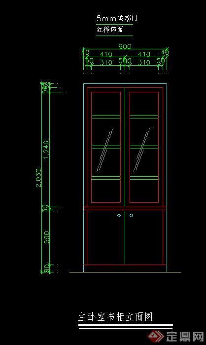 榻榻米cad怎么画_CAD书柜立面图模型图例-_汇潮装饰网