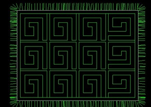室内装饰地毯cad平面图