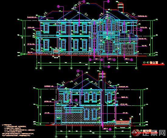 某法式二层小别墅建筑设计施工图