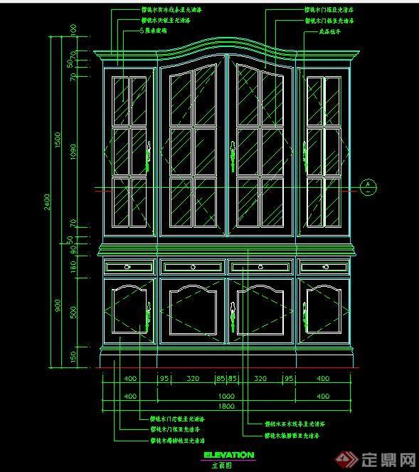 室内设计家具储物柜立面图