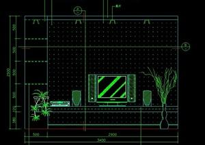 室内设计现代家装客厅立面图