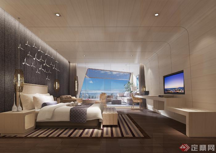 阳台室内设计3dmax模型