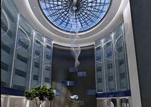 现代风格电视台中心大厅室内设计3dmax模型