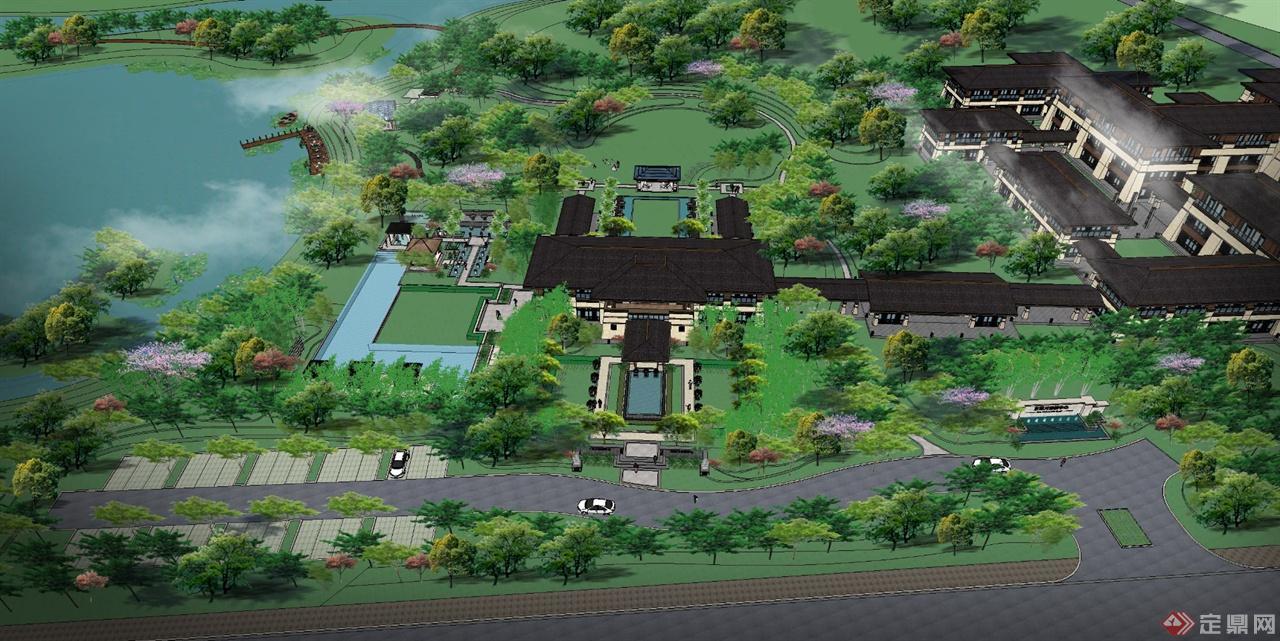 石家庄某温泉酒店景观设计