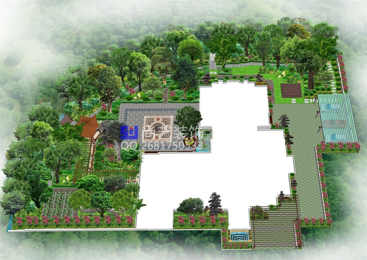 别墅景观设计-尚艺装饰