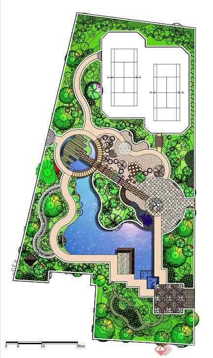 某游园景观设计平面图 psd格式