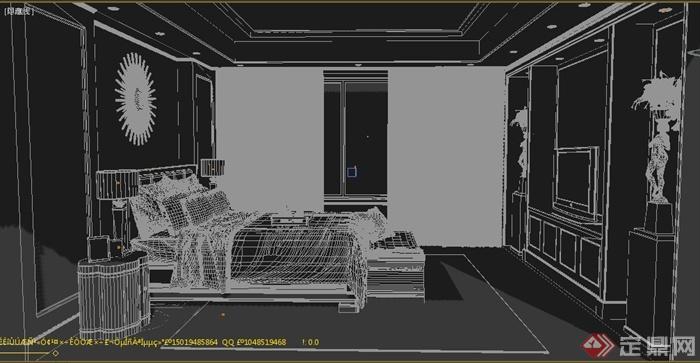 卧室空间室内装修设计3dmax模型