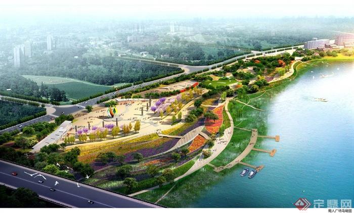 现代中式风格某滨水公园景观规划设计jpg文本[原创]