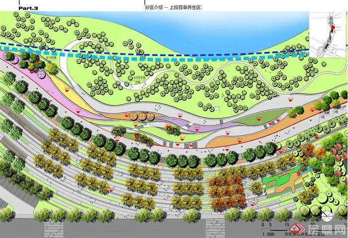 现代中式风格某滨水公园景观规划设计jpg文本[原创]图片