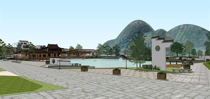 福建泉州西湖公园滨水栈道景观设计图片