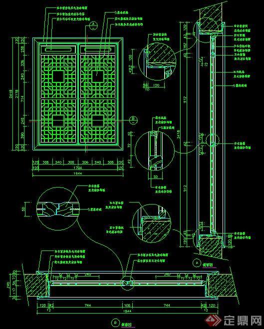 室内设计节点中式窗户施工图