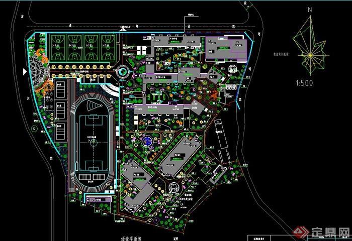 某现代校区景观规划设计jpg方案及cad施工图[原创]