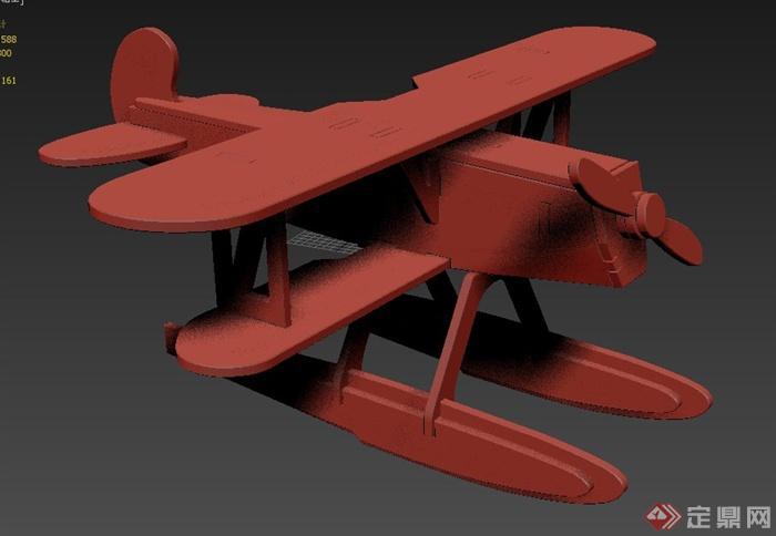 玩具飞机设计3dmax模型
