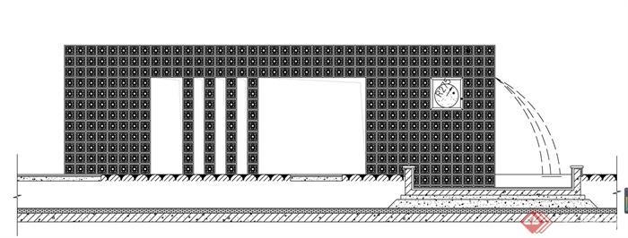 欧式水景墙设计cad施工图[原创]