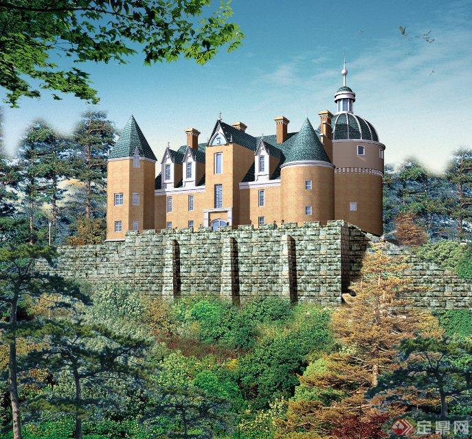 某欧式风格多栋景观建筑小品设计cad施工图
