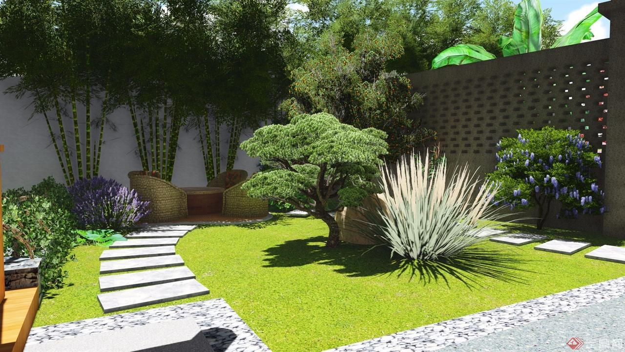 中式庭院设计-松蕊景观图片