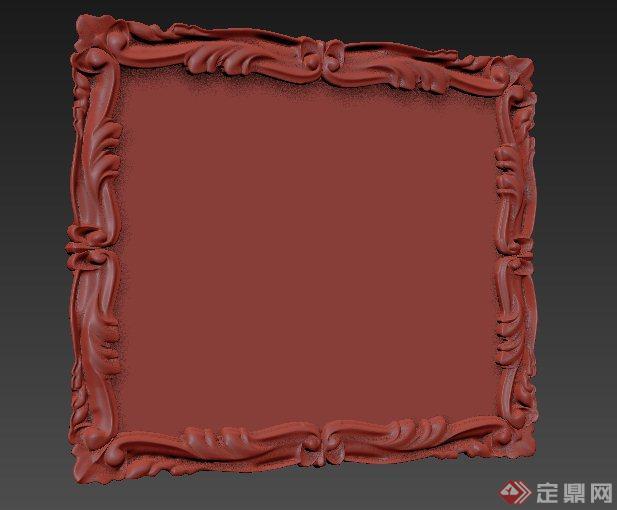 室内陈设雕花相框3dmax模型