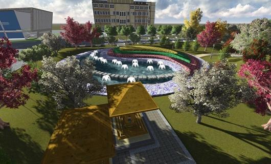 新材料厂区景观设计