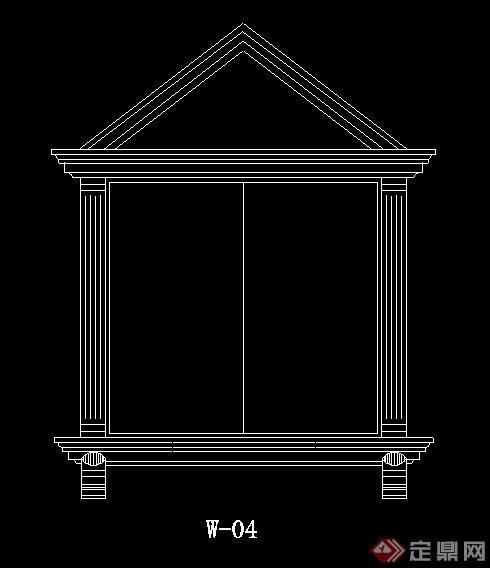 24款欧式风格窗套cad图