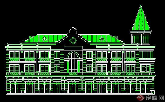 9款欧式风格建筑外观立面图