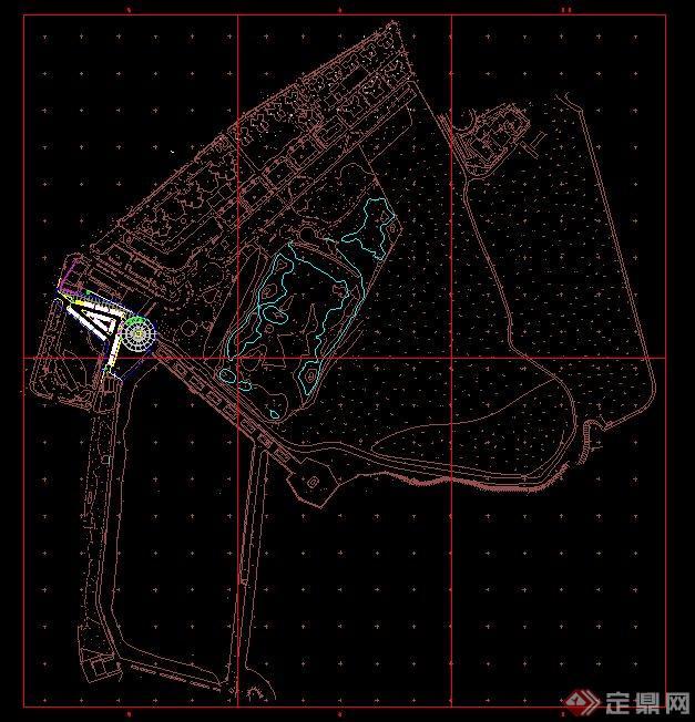 现代某滨水广场景观设计cad图