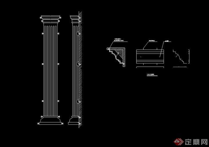 欧式多款常用室内装饰柱体设计cad图