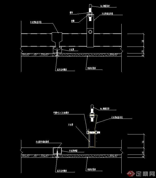 款建筑节点中式吊顶设计CAD施工图
