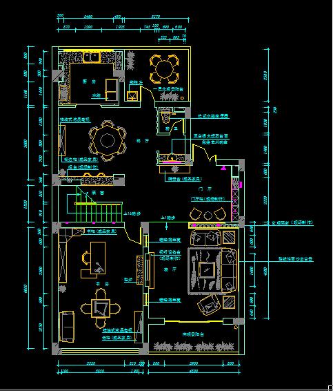 三层别墅室内装饰施工图318平(含65张cad图)[原创]