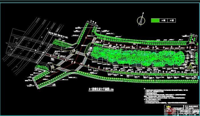某城市道路园林绿化设计CAD施工图