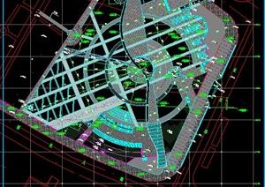 西宁市城市中心广场建筑景观设计施工图-园林景观设计完整方案项目