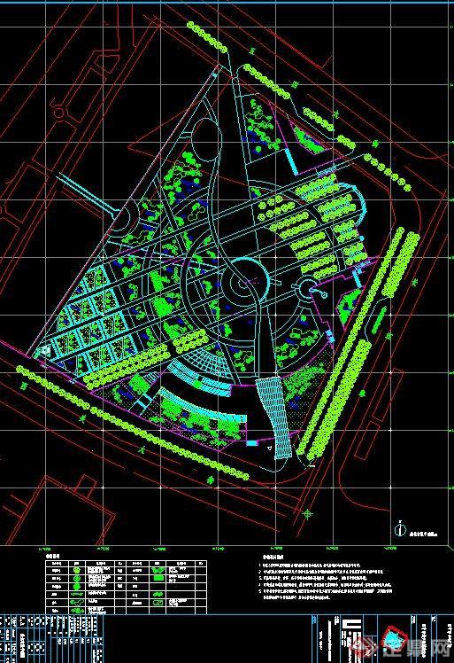 西宁市城市中心广场建筑景观设计施工图