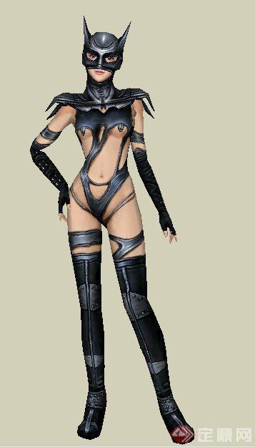 9款3d美女人物su模型(2)