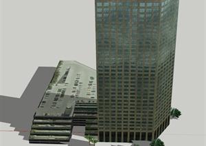某媒体集团办公楼建筑设计SU(草图大师)模型