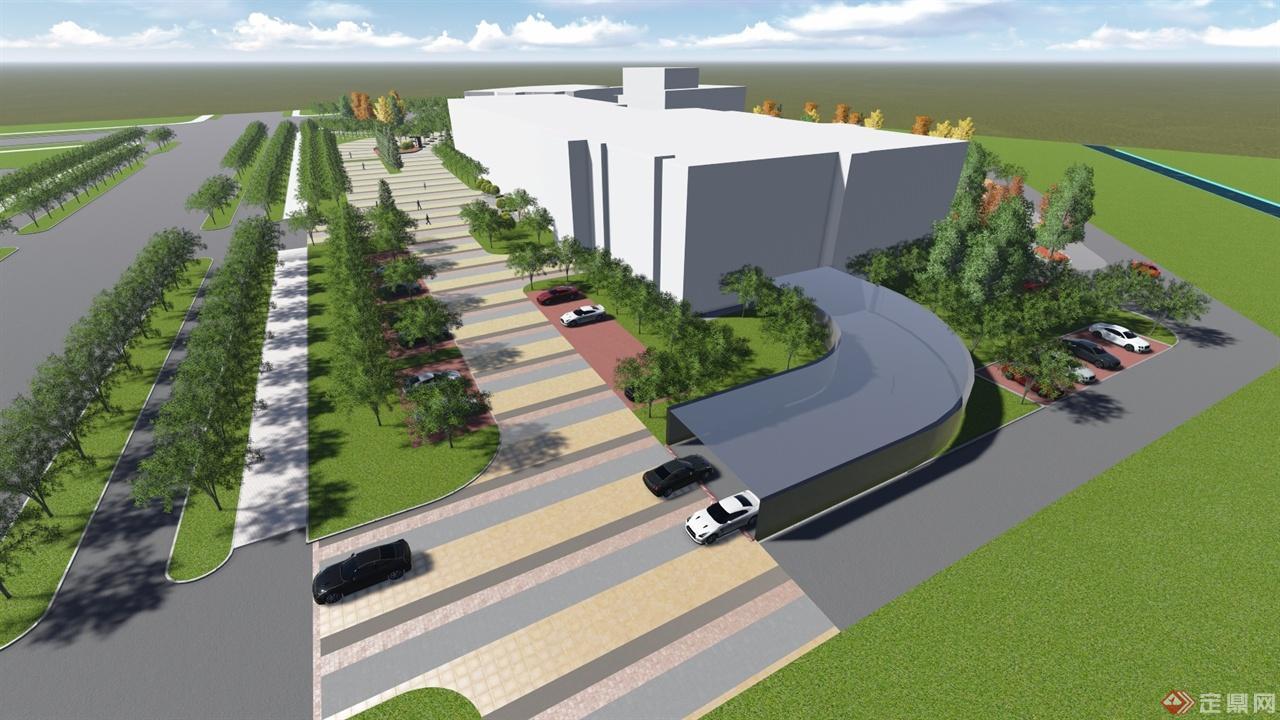 科技文化中心室外景观设计-空间环境艺术工作室