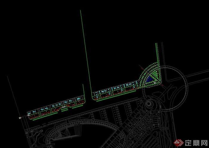 现代某段道路景观设计CAD施工图
