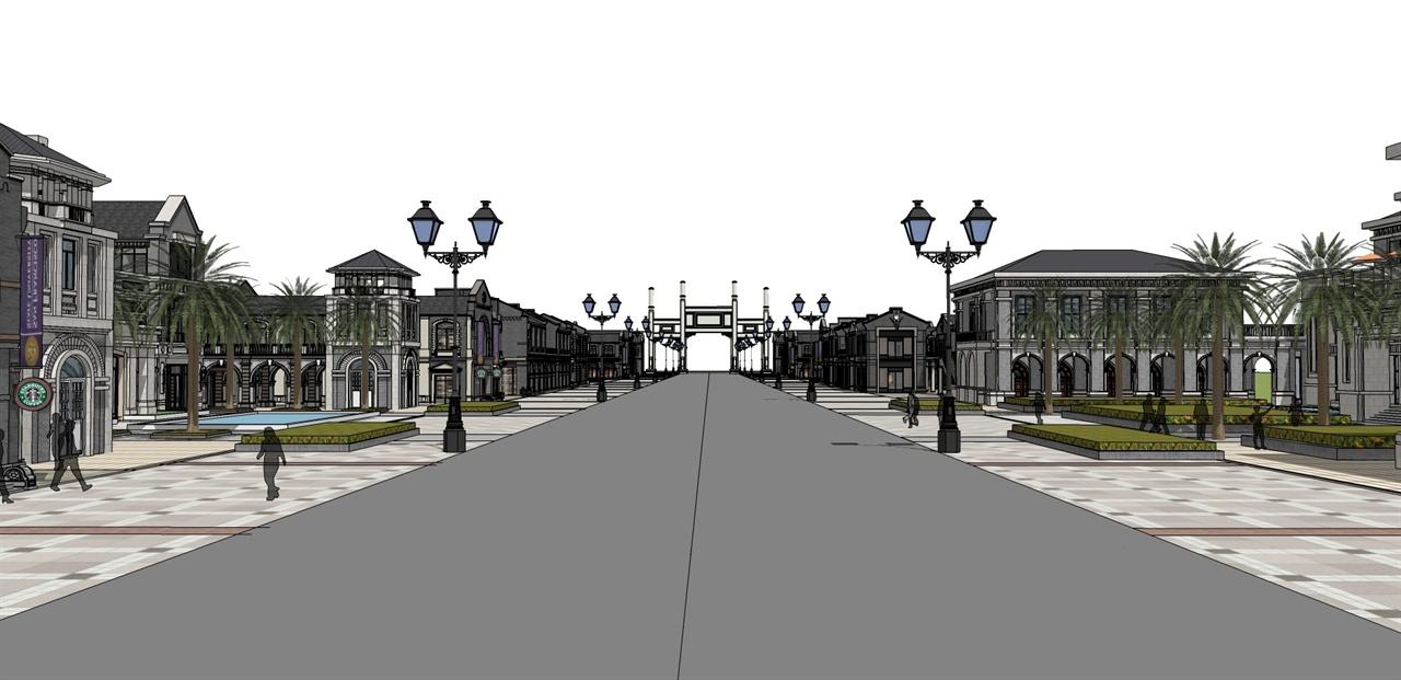 民国风商业街