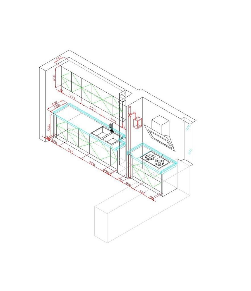 橱柜设计施工图图片