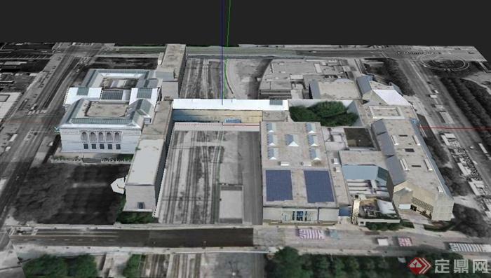 某欧式商场联排建筑设计su模型