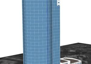 某电视局大楼建筑设计SU(草图大师)模型