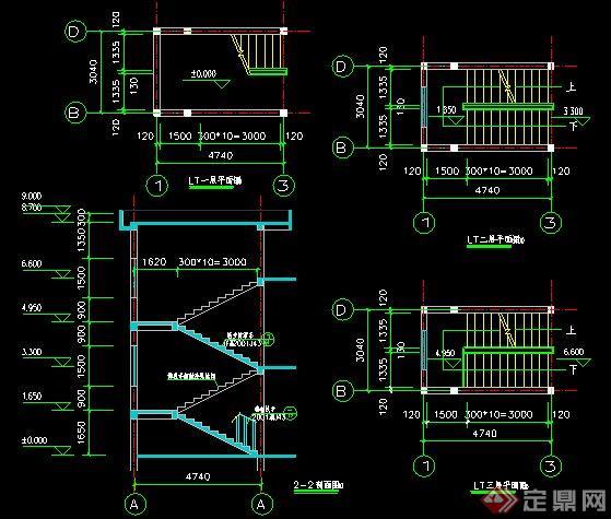 现代风格二层自建房建筑设计施工图(含效果)