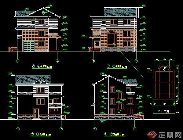 农村自建房别墅建筑设计施工图图片